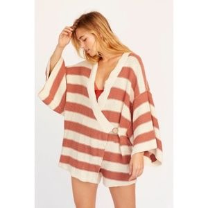 Free People Easy Living Striped Rober Knit Romper